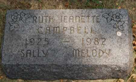 CAMPBELL, RUTH JEANETTE - Minnehaha County, South Dakota | RUTH JEANETTE CAMPBELL - South Dakota Gravestone Photos