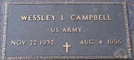 CAMPBELL, WESSLEY L. - Minnehaha County, South Dakota | WESSLEY L. CAMPBELL - South Dakota Gravestone Photos