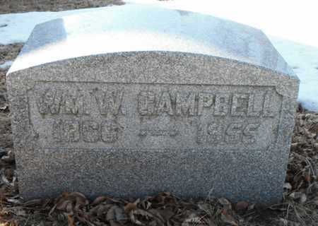 CAMPBELL, WILLIAM W. - Minnehaha County, South Dakota | WILLIAM W. CAMPBELL - South Dakota Gravestone Photos