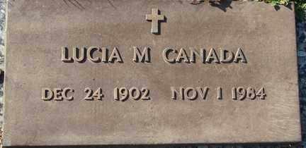 CANADA, LUCIA M. - Minnehaha County, South Dakota | LUCIA M. CANADA - South Dakota Gravestone Photos
