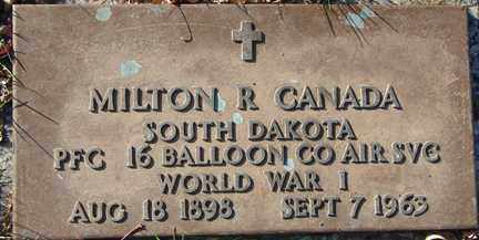 CANADA, MILTON R. (WWI) - Minnehaha County, South Dakota | MILTON R. (WWI) CANADA - South Dakota Gravestone Photos