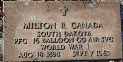 CANADA, MILTON R. (WWI) - Minnehaha County, South Dakota | MILTON R. (WWI) CANADA - South Dakota Gravestone Photos
