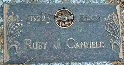 CANFIELD, RUBY J. - Minnehaha County, South Dakota | RUBY J. CANFIELD - South Dakota Gravestone Photos