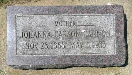 CANNON, JOHANNA CARSON - Minnehaha County, South Dakota | JOHANNA CARSON CANNON - South Dakota Gravestone Photos