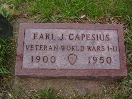 CAPESIUS, EARL J. - Minnehaha County, South Dakota   EARL J. CAPESIUS - South Dakota Gravestone Photos