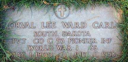 CARL, ORVAL LEE WARD - Minnehaha County, South Dakota | ORVAL LEE WARD CARL - South Dakota Gravestone Photos