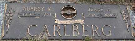 CARLBERG, AUBREY M. - Minnehaha County, South Dakota | AUBREY M. CARLBERG - South Dakota Gravestone Photos
