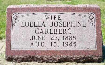 CARLBERG, LUELLA JOSEPHINE - Minnehaha County, South Dakota | LUELLA JOSEPHINE CARLBERG - South Dakota Gravestone Photos