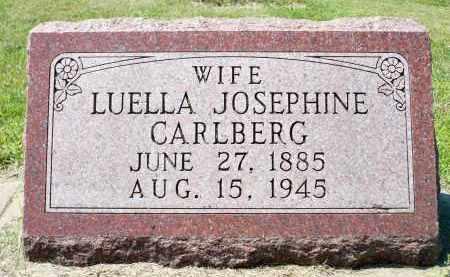 CARLBERG, LUELLA JOSEPHINE - Minnehaha County, South Dakota   LUELLA JOSEPHINE CARLBERG - South Dakota Gravestone Photos
