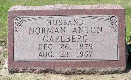 CARLBERG, NORMAN ANTON - Minnehaha County, South Dakota | NORMAN ANTON CARLBERG - South Dakota Gravestone Photos