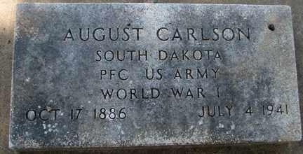 CARLSON, AUGUST (WWI) - Minnehaha County, South Dakota   AUGUST (WWI) CARLSON - South Dakota Gravestone Photos