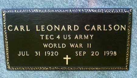 CARLSON, CARL LEONARD (WWII) - Minnehaha County, South Dakota | CARL LEONARD (WWII) CARLSON - South Dakota Gravestone Photos