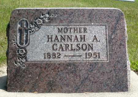 CARLSON, HANNAH A. - Minnehaha County, South Dakota | HANNAH A. CARLSON - South Dakota Gravestone Photos