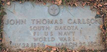 CARLSON, JOHN THOMAS (WWI) - Minnehaha County, South Dakota | JOHN THOMAS (WWI) CARLSON - South Dakota Gravestone Photos