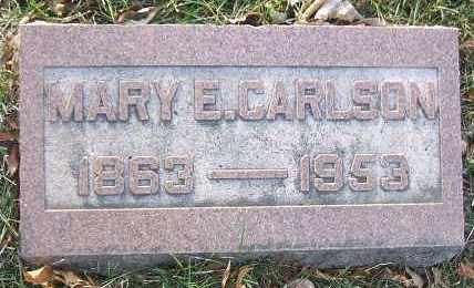CARLSON, MARY E. - Minnehaha County, South Dakota | MARY E. CARLSON - South Dakota Gravestone Photos