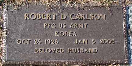 CARLSON, ROBERT D. (KOREA) - Minnehaha County, South Dakota | ROBERT D. (KOREA) CARLSON - South Dakota Gravestone Photos