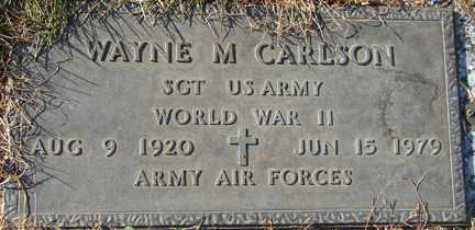 CARLSON, WAYNE M. (WWII) - Minnehaha County, South Dakota | WAYNE M. (WWII) CARLSON - South Dakota Gravestone Photos