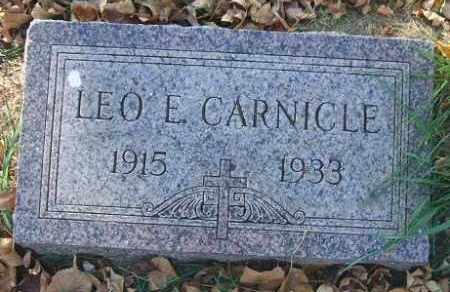 CARNICLE, LEO E. - Minnehaha County, South Dakota   LEO E. CARNICLE - South Dakota Gravestone Photos