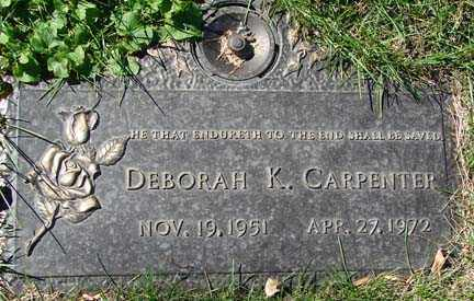 CARPENTER, DEBORAH K. - Minnehaha County, South Dakota | DEBORAH K. CARPENTER - South Dakota Gravestone Photos