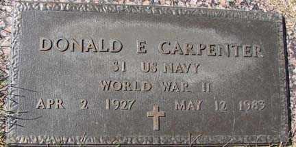 CARPENTER, DONALD E. - Minnehaha County, South Dakota   DONALD E. CARPENTER - South Dakota Gravestone Photos