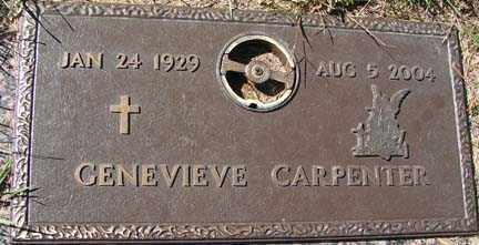 CARPENTER, GENEVIEVE - Minnehaha County, South Dakota | GENEVIEVE CARPENTER - South Dakota Gravestone Photos