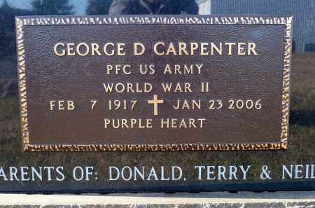 CARPENTER, GEORGE D. - Minnehaha County, South Dakota | GEORGE D. CARPENTER - South Dakota Gravestone Photos