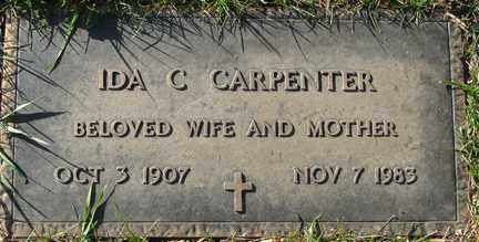 CARPENTER, IDA C. - Minnehaha County, South Dakota   IDA C. CARPENTER - South Dakota Gravestone Photos