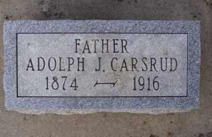 CARSRUD, ADOLPH J. - Minnehaha County, South Dakota | ADOLPH J. CARSRUD - South Dakota Gravestone Photos