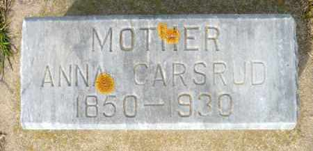 CARSRUD, ANNA - Minnehaha County, South Dakota | ANNA CARSRUD - South Dakota Gravestone Photos