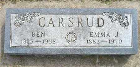 CARSRUD, EMMA J. - Minnehaha County, South Dakota | EMMA J. CARSRUD - South Dakota Gravestone Photos