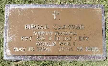 CARSRUD, EDGAR (WWI) - Minnehaha County, South Dakota | EDGAR (WWI) CARSRUD - South Dakota Gravestone Photos