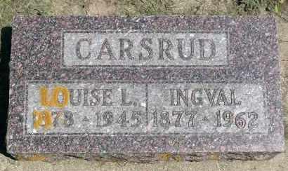 CARSRUD, INGVAL - Minnehaha County, South Dakota   INGVAL CARSRUD - South Dakota Gravestone Photos