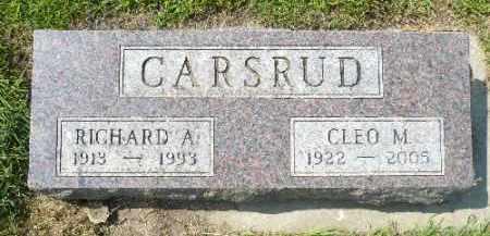 CARSRUD, RICHARD A. - Minnehaha County, South Dakota | RICHARD A. CARSRUD - South Dakota Gravestone Photos