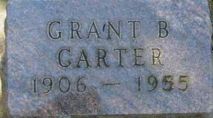 CARTER, GRANT B. - Minnehaha County, South Dakota | GRANT B. CARTER - South Dakota Gravestone Photos