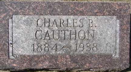 CAUTHON, CHARLES B. - Minnehaha County, South Dakota | CHARLES B. CAUTHON - South Dakota Gravestone Photos