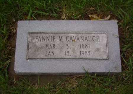 CAVANAUGH, FANNIE M. - Minnehaha County, South Dakota | FANNIE M. CAVANAUGH - South Dakota Gravestone Photos
