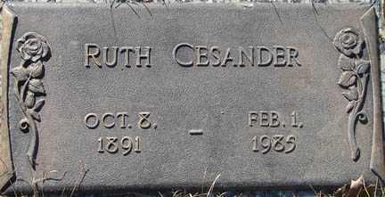 CESANDER, RUTH - Minnehaha County, South Dakota | RUTH CESANDER - South Dakota Gravestone Photos