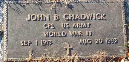 CHADWICK, JOHN B. - Minnehaha County, South Dakota | JOHN B. CHADWICK - South Dakota Gravestone Photos