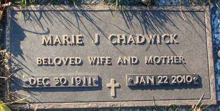 CHADWICK, MARIE J. - Minnehaha County, South Dakota | MARIE J. CHADWICK - South Dakota Gravestone Photos