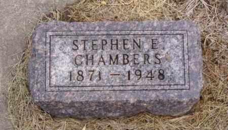 CHAMBERS, STEPHEN E. - Minnehaha County, South Dakota   STEPHEN E. CHAMBERS - South Dakota Gravestone Photos