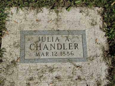 CHANDLER, JULIA A. - Minnehaha County, South Dakota   JULIA A. CHANDLER - South Dakota Gravestone Photos