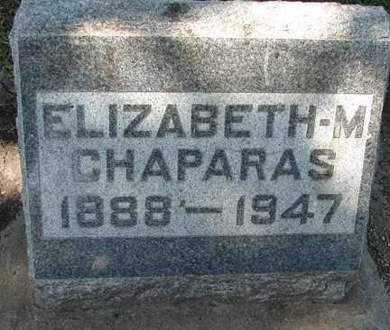 CHAPARAS, ELIZABETH M. - Minnehaha County, South Dakota | ELIZABETH M. CHAPARAS - South Dakota Gravestone Photos