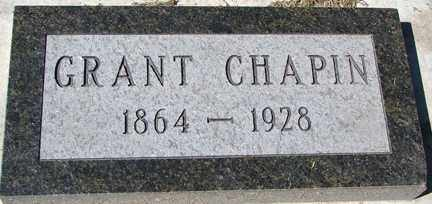 CHAPIN, GRANT - Minnehaha County, South Dakota | GRANT CHAPIN - South Dakota Gravestone Photos