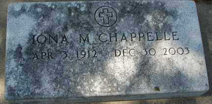 CHAPPELLE, IONA M. - Minnehaha County, South Dakota | IONA M. CHAPPELLE - South Dakota Gravestone Photos