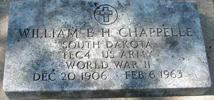 CHAPPELLE, WILLIAM E.H. (WWII) - Minnehaha County, South Dakota   WILLIAM E.H. (WWII) CHAPPELLE - South Dakota Gravestone Photos