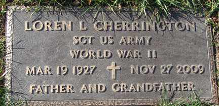 CHERRINGTON, LOREN L. (WWII) - Minnehaha County, South Dakota   LOREN L. (WWII) CHERRINGTON - South Dakota Gravestone Photos