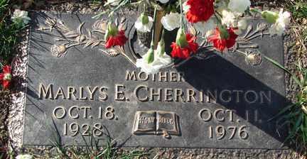 DOEBBERT CHERRINGTON, MARLYS E. - Minnehaha County, South Dakota   MARLYS E. DOEBBERT CHERRINGTON - South Dakota Gravestone Photos
