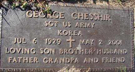 CHESSHIR, GEORGE - Minnehaha County, South Dakota | GEORGE CHESSHIR - South Dakota Gravestone Photos
