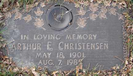 CHRISTENSEN, ARTHUR E. - Minnehaha County, South Dakota | ARTHUR E. CHRISTENSEN - South Dakota Gravestone Photos