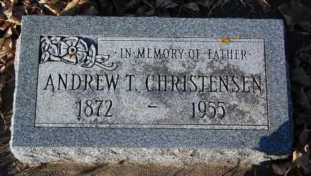 CHRISTENSEN, ANDREW T. - Minnehaha County, South Dakota | ANDREW T. CHRISTENSEN - South Dakota Gravestone Photos